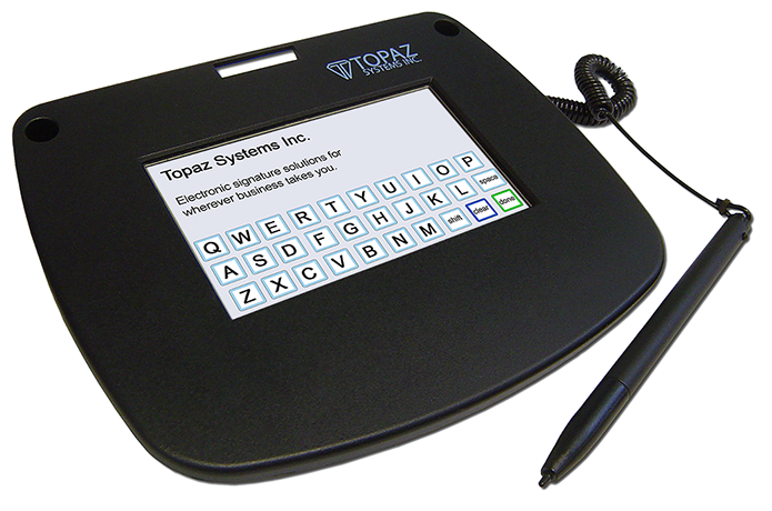Siglite Color 4 3 Electronic Signature Pad Topaz Systems