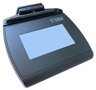 Electronic Signature Pad - SignatureGem LCD 4x3 with MSR